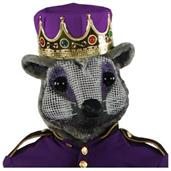 Mouse King Head With Purple Crown