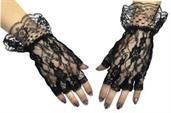 Gloves Black Fingerless 1 Sz