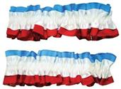 4th July Red White Blue Armband Garters Pair