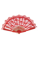 Red Lace Fan Costume Accessory