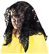 Black Spanish Mantilla Costume Accessory