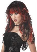 Tempting Tresses Red Black Wig