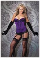 Purple/Black Bustier
