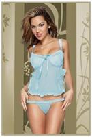 Blue Babydoll With G-String