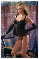 Black Babydoll With G-String
