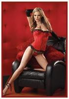 Red Bustier With G-String