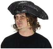 Black Old Pirate Hat