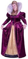 Elizabethian Queen Adult Plus Costume