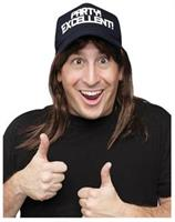 SNL Wayne Excellent Wig With Hat