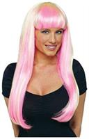 Pink Blonde Natural And Neon Wig