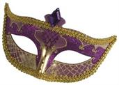 Carnival Mask No Feather Purple
