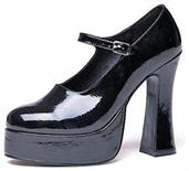 Platform Maryjane Black Shoes