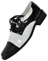Men's Oxford Black And White Shoes