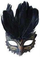 Black Gold Carnivale Eye Mask