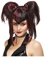 Bad Fairy Black Red Wig