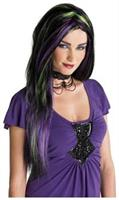 Rebel Witch Black/Purple/Green Wig