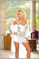 Charmeuse Babydoll & Robe White
