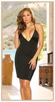 Chemise Mcrfiber With Thong Black
