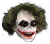 Joker 3/4 Vinyl Mask With  Hair