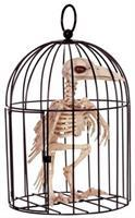 Skeleton Crow In Cage