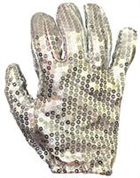 White Sequin Glove Accessory
