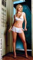 Sheer metallic dots no wire triangle bra and thong tiny skirt