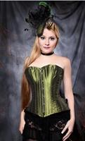Iridescent Olive Green Over bust Corset