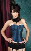 Iridescent Blue Over bust Corset