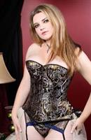 Gold and Silver BrocadeOver bust Corset