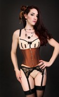 Iridescent Rusted Brown Short Underbust Corset