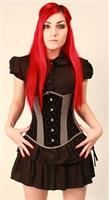 Black and Grey Velvet Corset