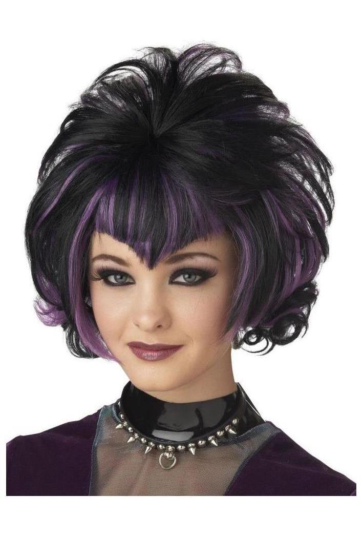 Gothic Flip Black Purple Wig Spicylegs Com