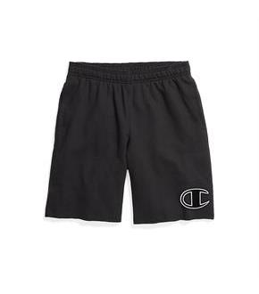 Champion Men's Powerblend Fleece Shorts, Big C Logo