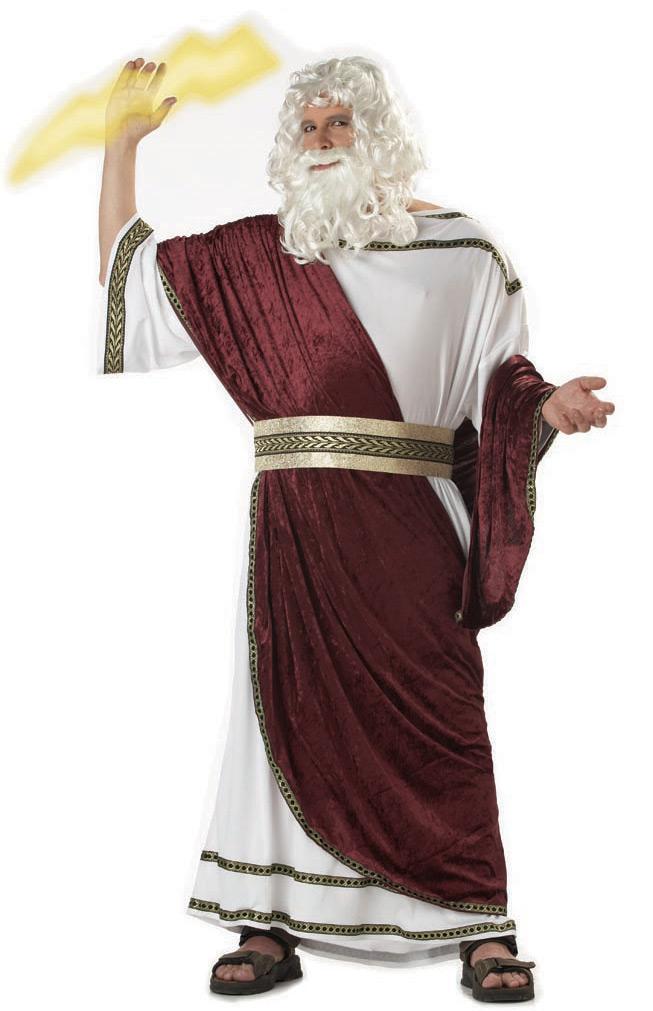 Zeus, God of the Sky Plus Adult Costume - SpicyLegs.com