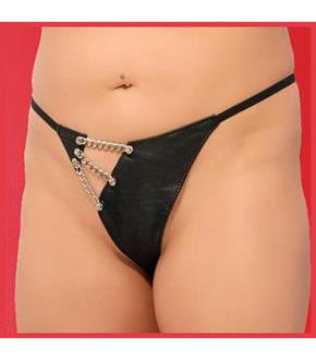 Leather and Chain G-String