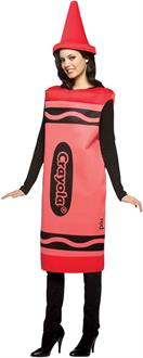 Crayola Red Crayon Adult Costume