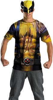 Wolverine Shirt And Mask Adult Costume