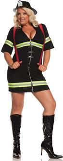 Ms. Blazin' Hot Adult Plus Costume