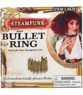 Steampunk Bullet Ring Adult