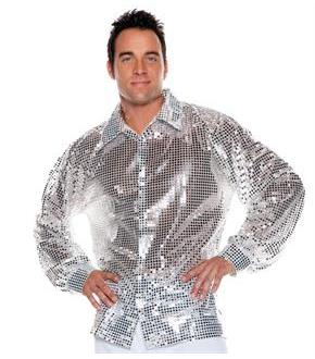 Silver Sequin Shirt Adult