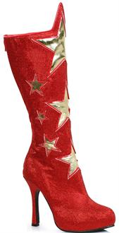 Women's Red Superhero Star Boots