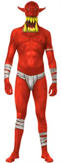 Monster Collection Red Orc Adult Costume