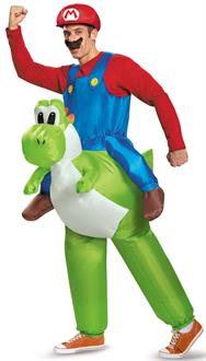 Super Mario Bros: Mario Riding Yoshi Inflatable Adult Costume