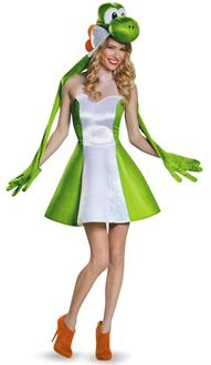 Super Mario Bros: Yoshi Female Adult Costume