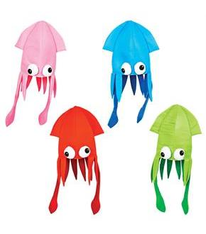 Squid Hat Party Accessory Assorted Colors