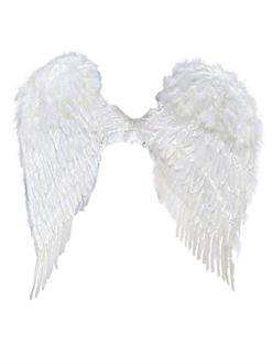 37 Inch White Feather Wings