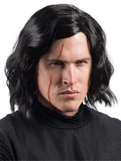 Star Wars Episode VIII - The Last Jedi Adult Kylo Ren Wig with Scar Tattoo