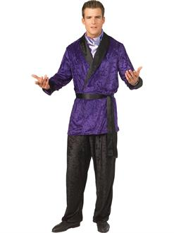 Hugh Heffner Purple Smoking Jacket