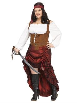 Pirate Queen Women's Plus Costume