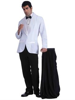Mens Vintage Hollywood Formal White Jacket